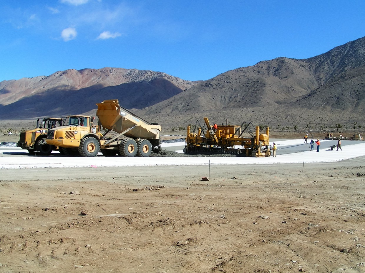 Naval Air Weapons Station China Lake Test Track Paving E